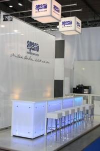Der neue Messestand von apano auf der Invest 2012.
