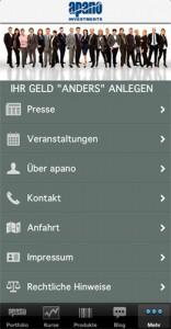 Die apano-App